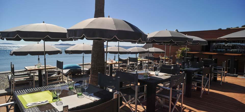 Le soir au restaurant de l 39 h tel bor hy res - Restaurant hyeres bord de mer ...